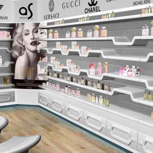Zabudowa sklepowa - perfumeria