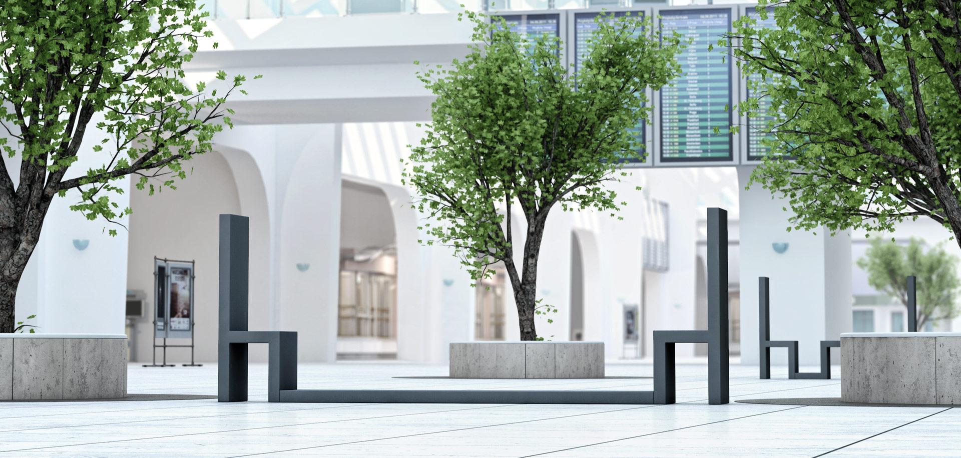 Meble miejskie Due - meble dla przestrzeni miejskich