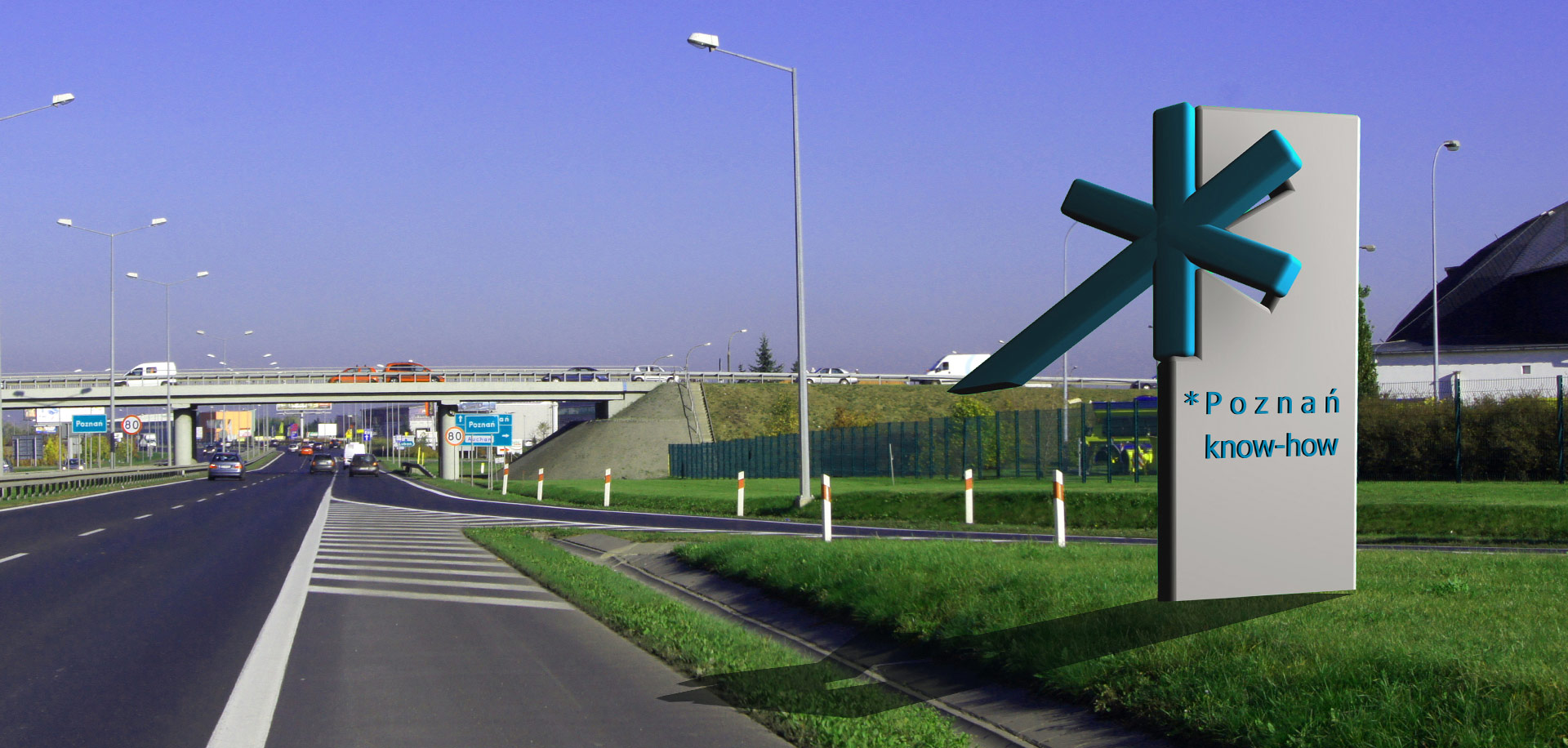 Witacze - słupy na granicy miasta/gminy