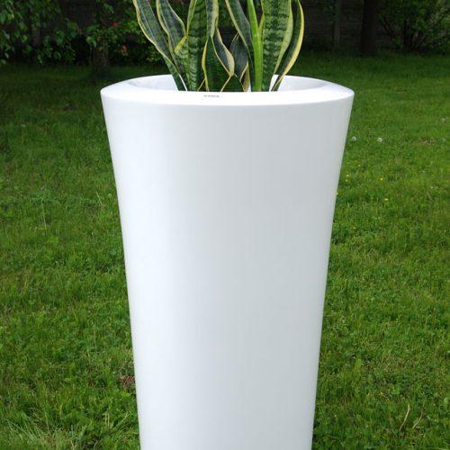 Donica ogrodowa ASPAR XL biała Donice miejskie Donice do galerii handlowych