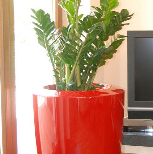 Donica ogrodowa ASANA M czerwona donice miejskie donice do galerii handlowych