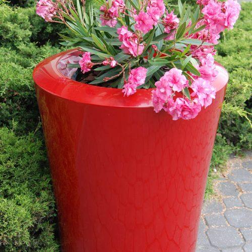 Donica ogrodowa ASGAR L czerwona