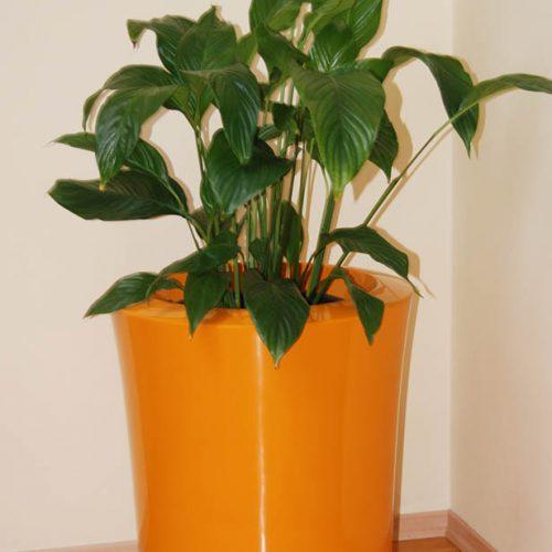 Donica ogrodowa ASGAR S pomarańczowa