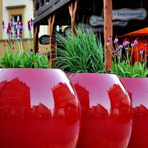 Donice ogrodowe ASMAN L czerwone