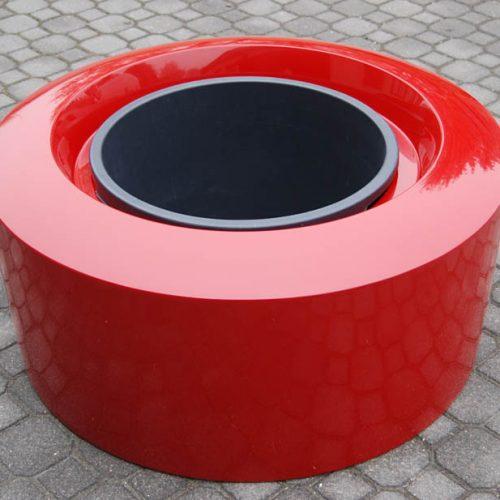 Donica ogrodowa ASOLI S czerwona