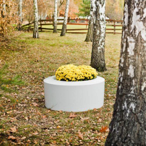 Donica ogrodowa ASOLI S biała
