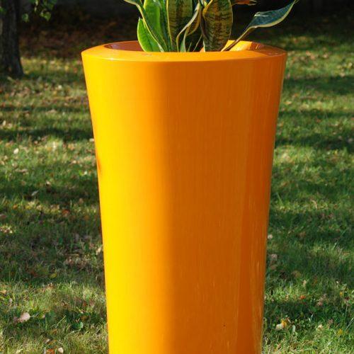Donica ogrodowa ASPAR XXL pomarańczowa Donice dla galerii handlowych Donice miejskie