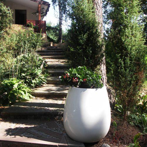 Donica ogrodowa ASSIL L biała