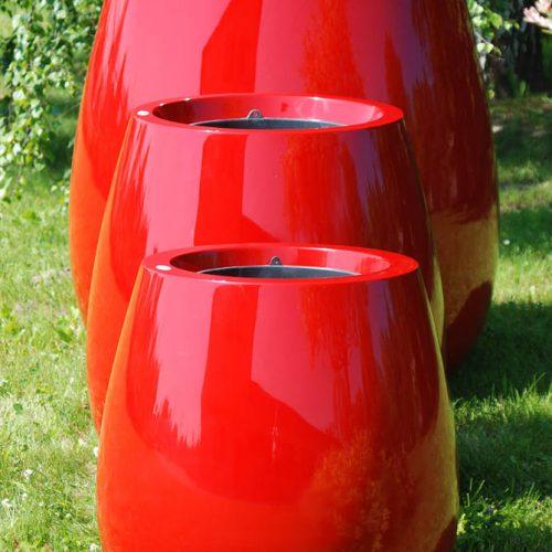 Donice ogrodowe ASSIL czerwone rożne rozmiary