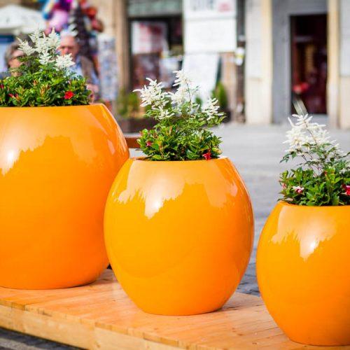 Donice ogrodowe ASMAN pomarańczowe rożne rozmiary