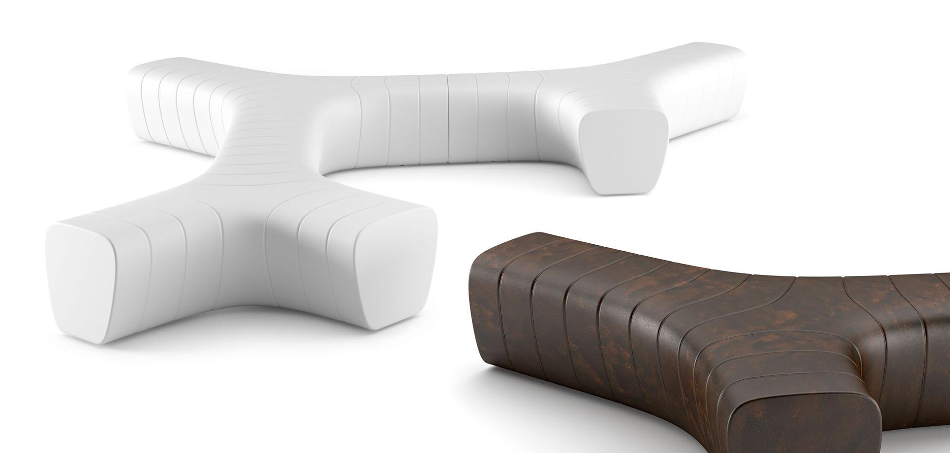 ławki / sofy podświetlane Albero