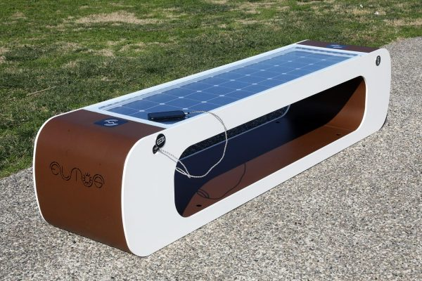 Smart bench - usb - solar panel - wifi