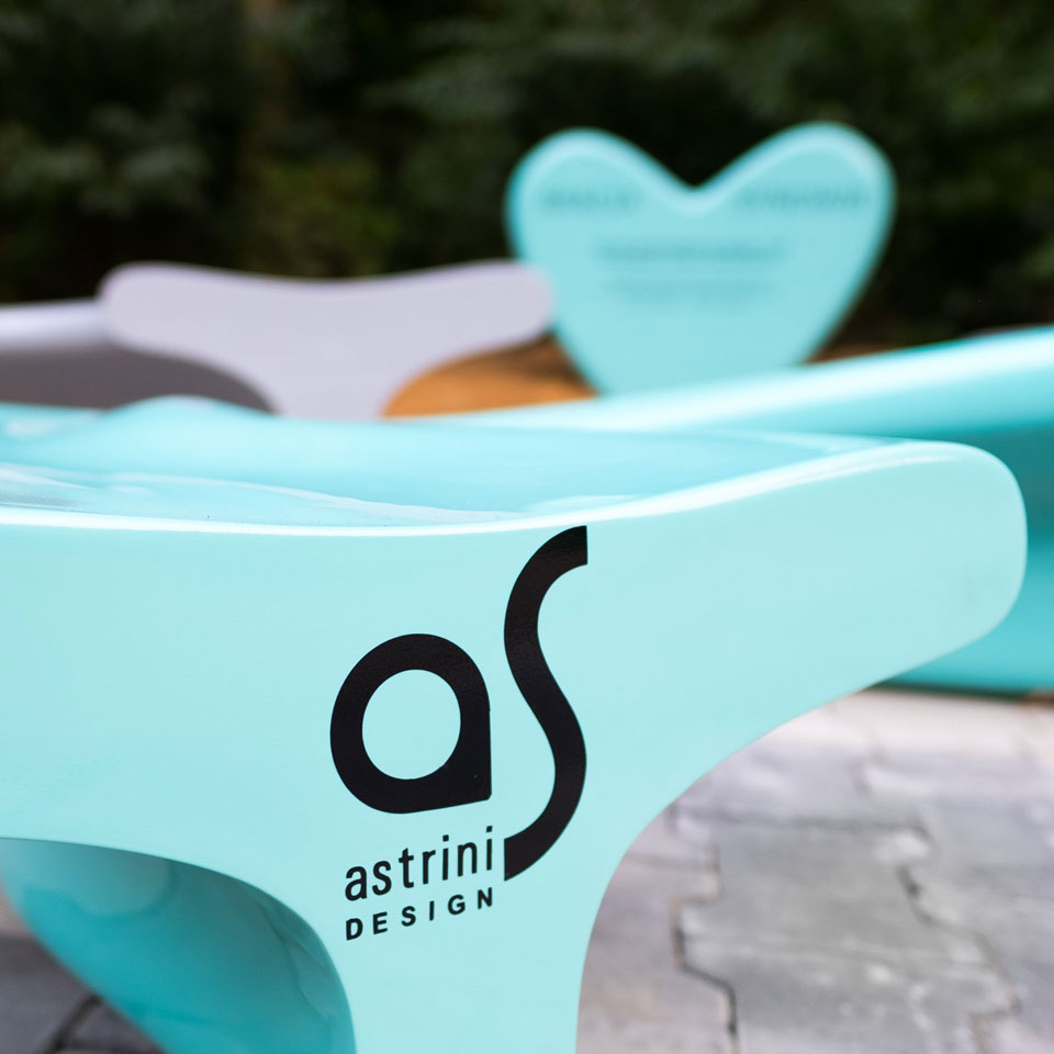 Alphabet - benches - blocks - products from laminates