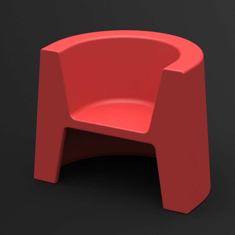 Fotel Modulo (czerwony)