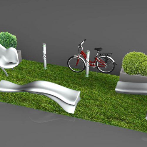 Parklet – modern composition of modern furniture