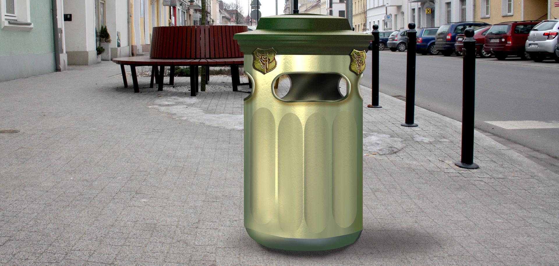 Pojemnik na śmieci - kosz z laminatu