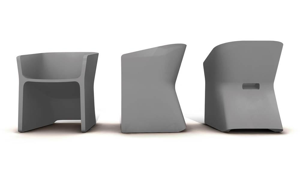 Fotel Sliced (biały)
