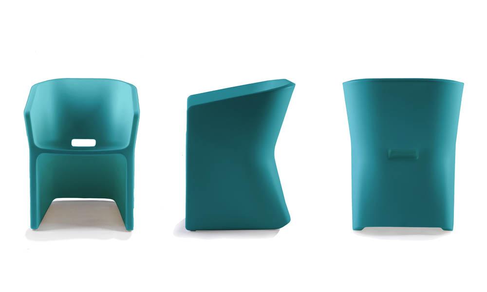 Fotel Sliced (niebieski)