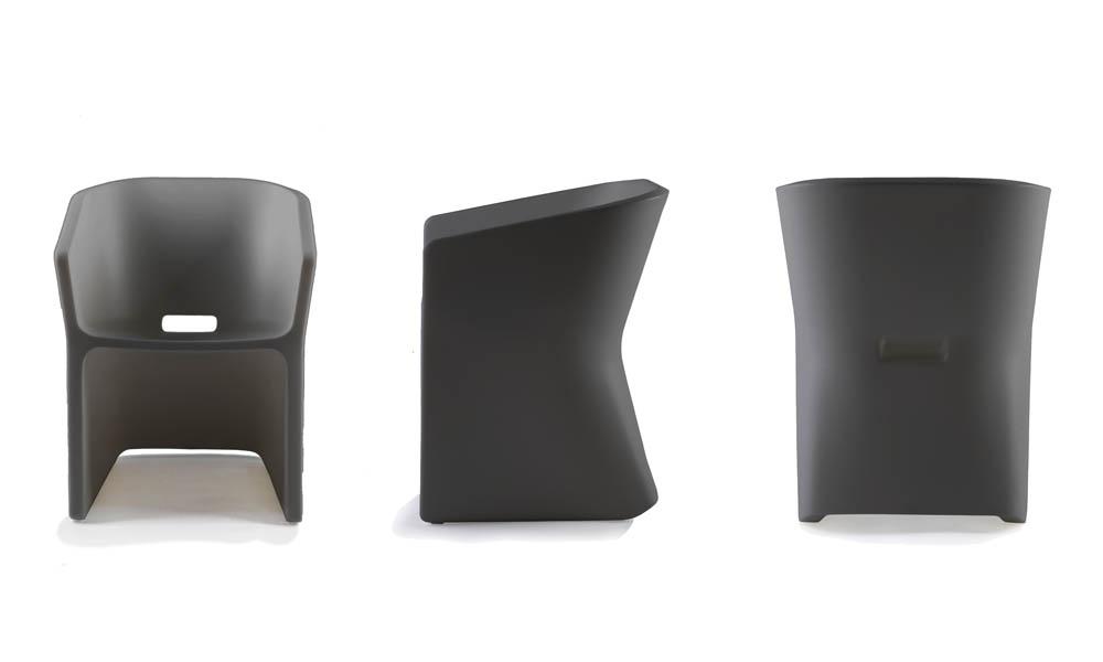 Fotel Sliced (w kolorze betonu)