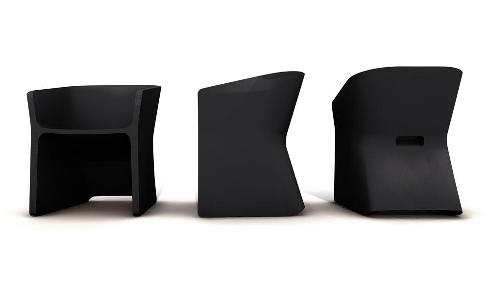 Fotel Sliced (grafitowo czarny)