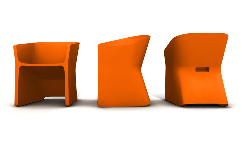 Fotel Sliced (pomarańczowy)