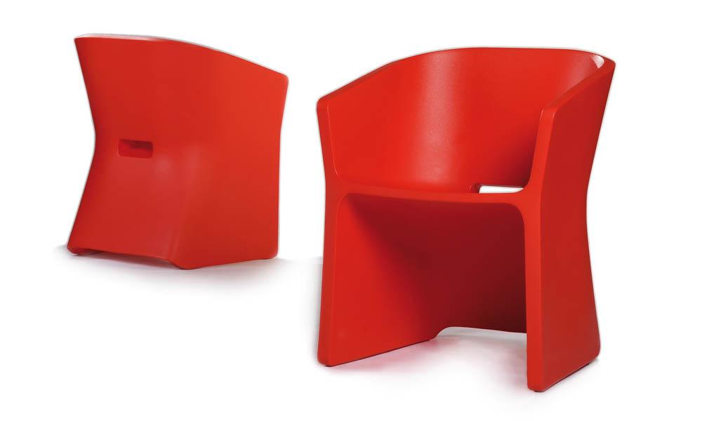 Fotel Sliced (czerwony)