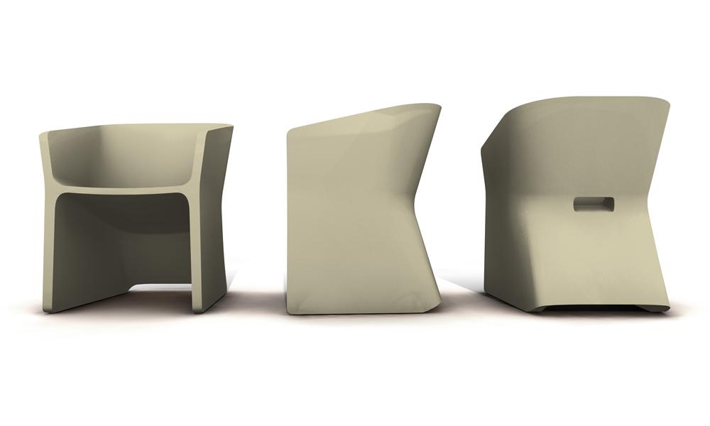 Fotel Sliced (kremowy)