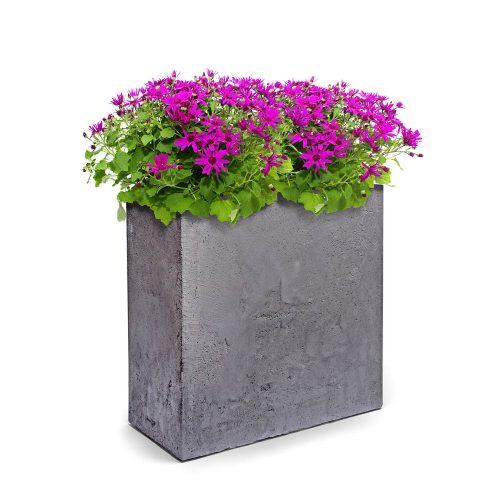 Pots in concrete finish - plastic material
