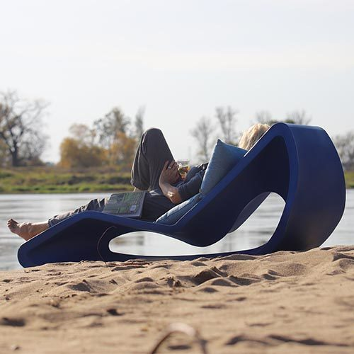 leżak plażowy z plastiku - premium - producent